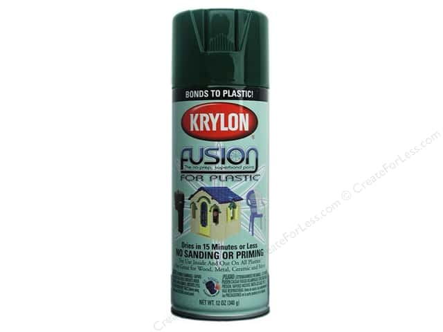 Krylon Fusion for Plastic Paint 12 oz. Hunter Green