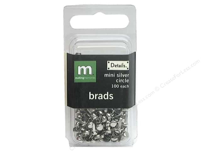 Making Memories Brads Mini Circle Silver 100pc