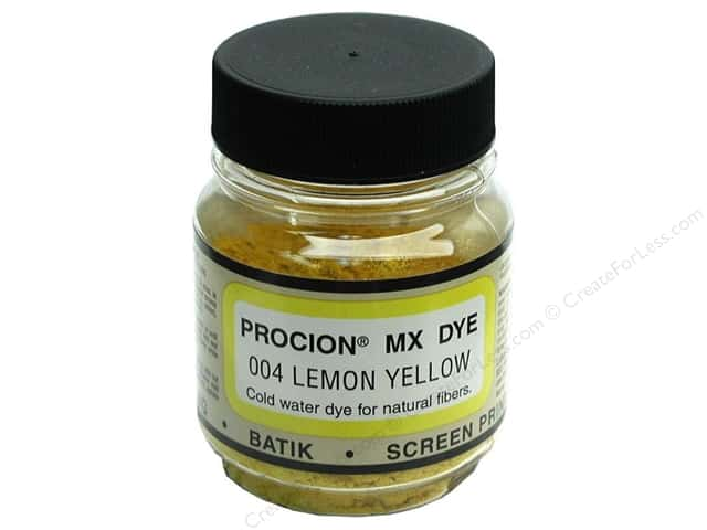 Jacquard Procion MX Dye 2/3 oz. #004 Lemon Yellow