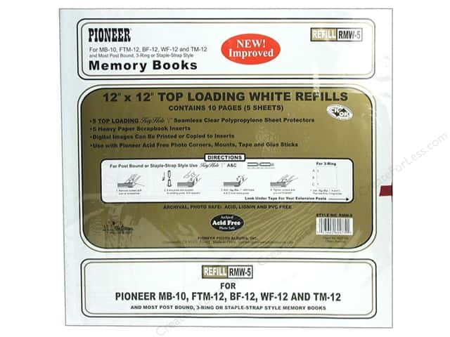 "Pioneer Refill Page Memory 12""x 12"" White"