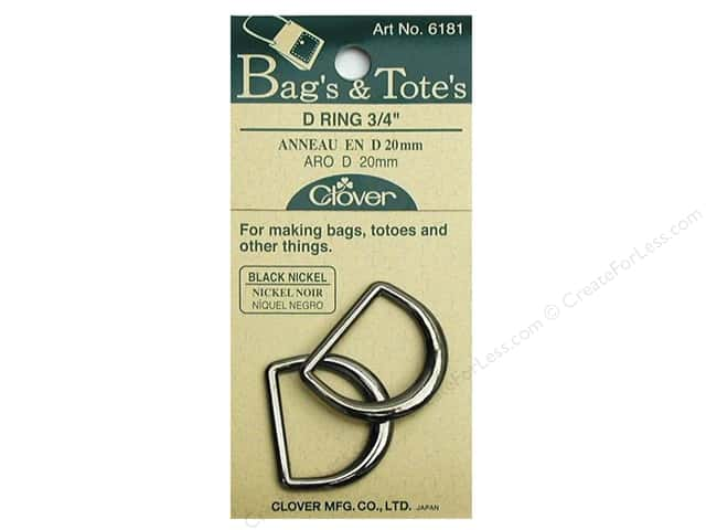 "Clover D Rings 3/4"" Black Nickel"