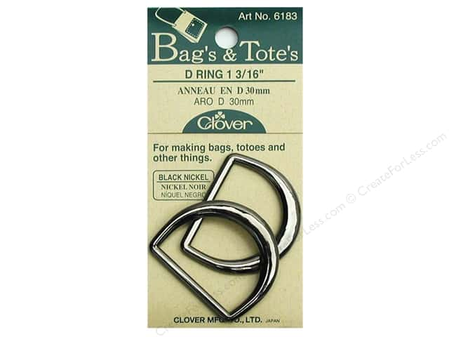 Clover D Rings 1 3/16 in. Black Nickel