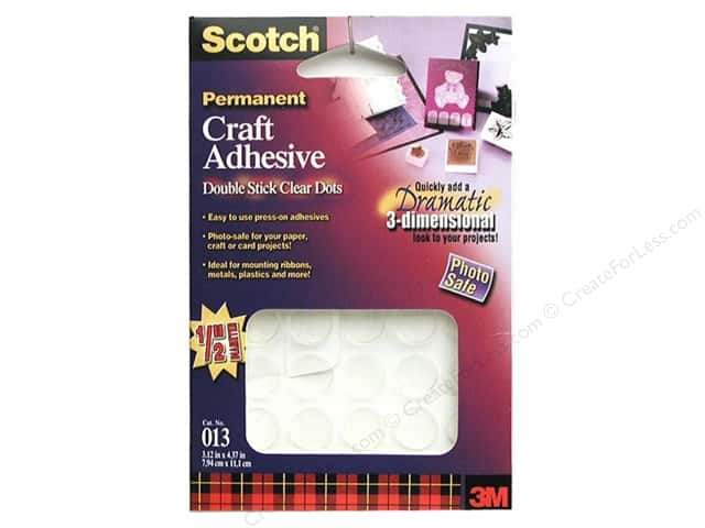 Scotch Craft Adhesive Glue Dot Permanent (3 packages)
