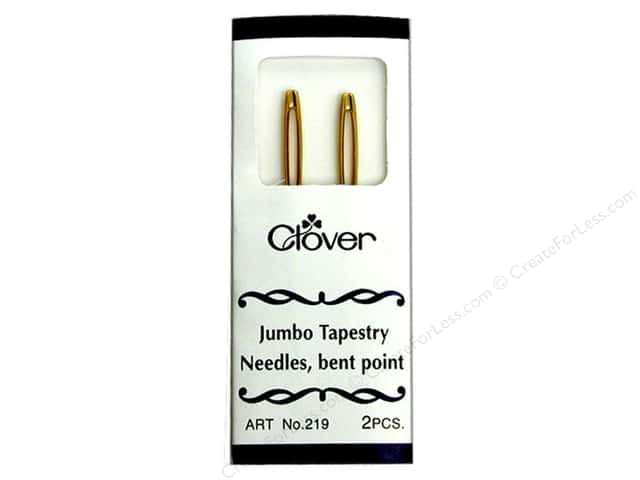 Clover Tapestry Needles Jumbo Bent Point 2pc