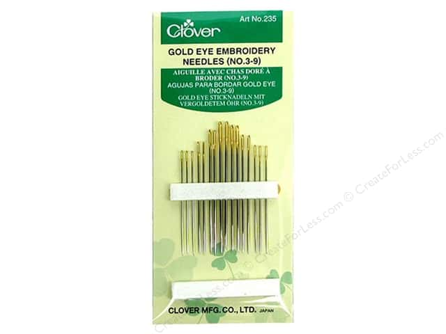 Clover Embroidery Needles #3/9 15pc