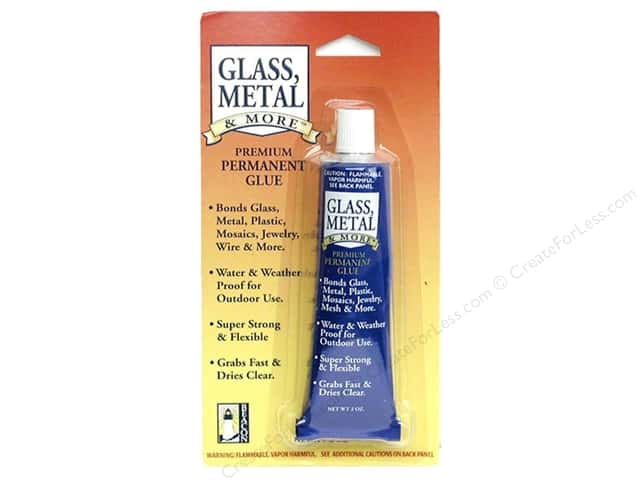 Glue to bond glass to metal jewelry