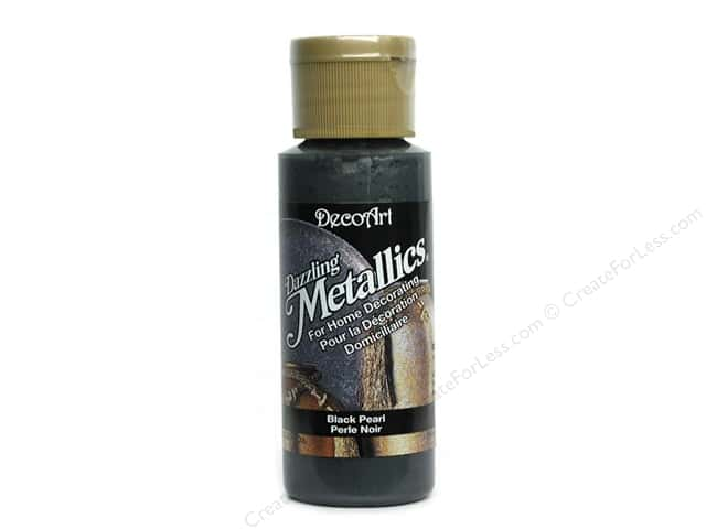 DecoArt Dazzling Metallics Paint 2oz Black Pearl