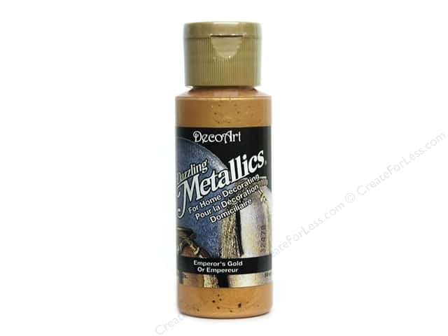 DecoArt Dazzling Metallics Paint 2oz Emperor's Gold