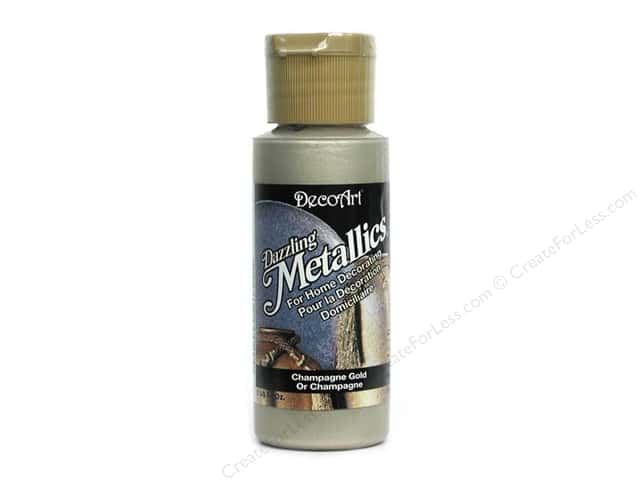 DecoArt Dazzling Metallics Paint 2oz Champagne Gold