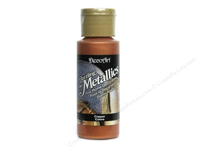 DecoArt Dazzling Metallics Paint 2oz Copper