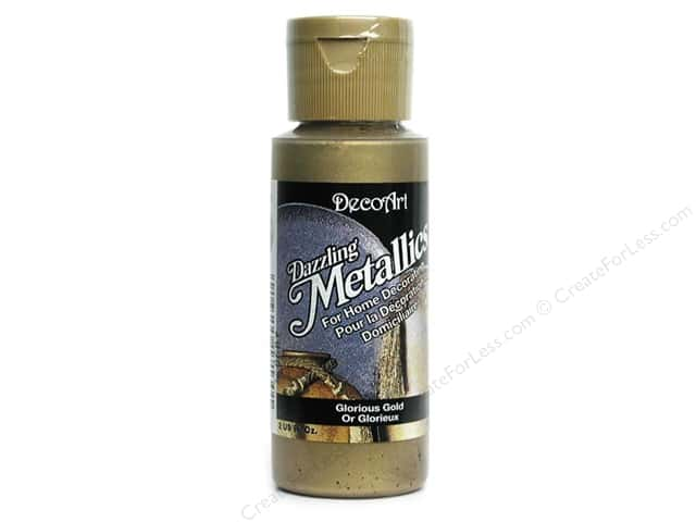 DecoArt Dazzling Metallics Paint 2oz Glorious Gold