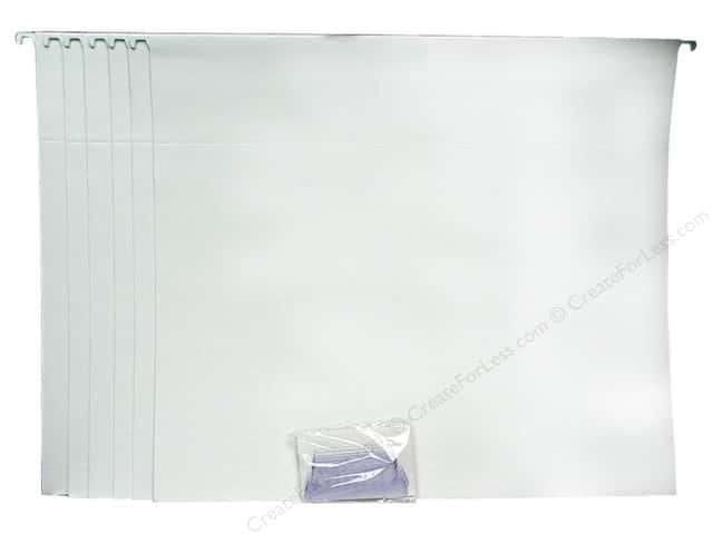 "Cropper Hopper Hanging File Folders 13""x 14"" White 6 pc"
