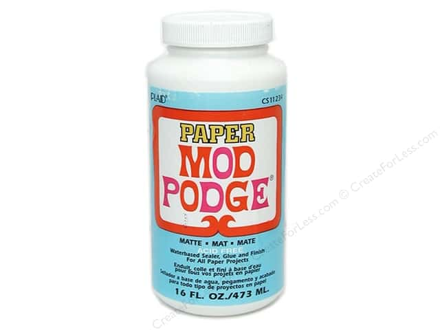 Plaid Mod Podge Paper Matte Acid Free 16 oz