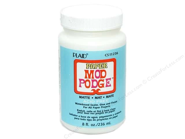 Plaid Mod Podge Paper Matte Acid Free 8 oz