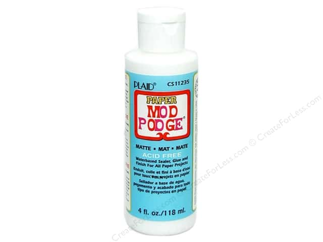 Plaid Mod Podge Paper Matte Acid Free 4 oz