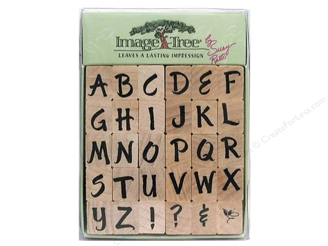 EK Image Tree Rubber Stamp Set Sratto Brush Letters