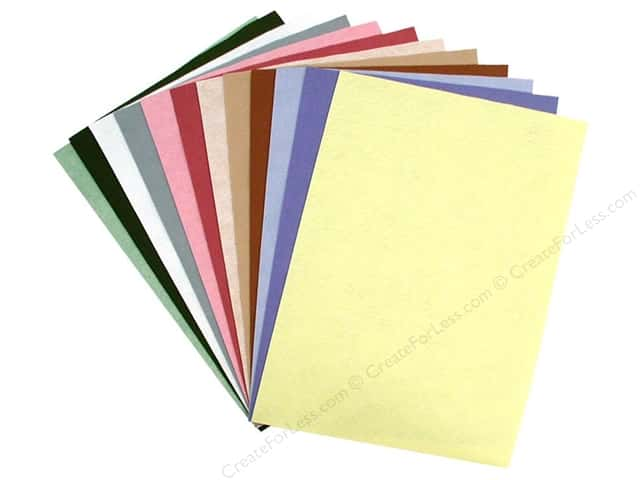 National Nonwovens WoolFelt 12 x 18 in. 35% Spring Collection (12 sheets)