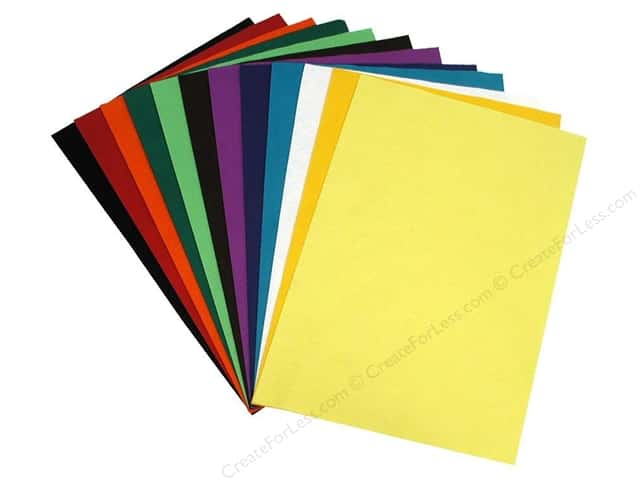 National Nonwovens WoolFelt 12 x 18 in. 20% Contemporary (10 sheets)