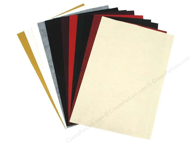 "National Nonwovens WoolFelt 12""x 18"" 20% Holiday (12 sheets)"