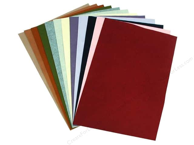 "National Nonwovens WoolFelt 12""x 18"" 20/35% Trendy Accents (12 sheets)"