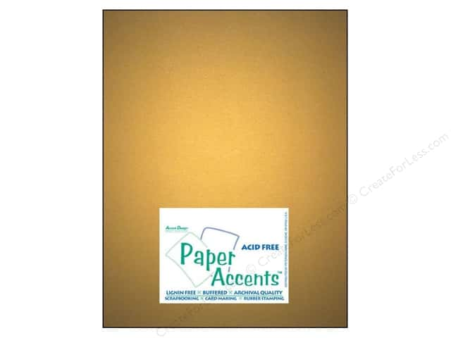 Cardstock 8 1/2 x 11 in. #877C Pearlized Gold by Paper Accents (25 sheets)