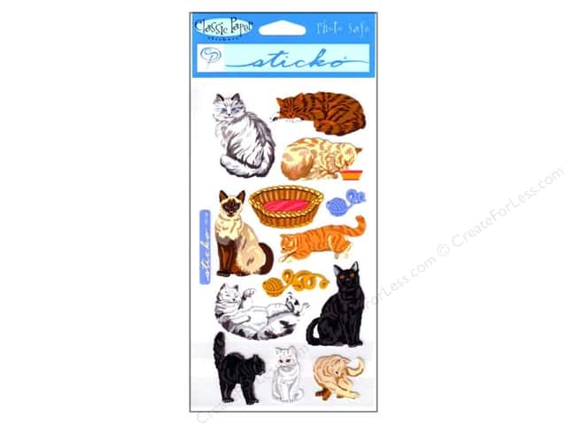 EK Sticko Stickers Cat Craze