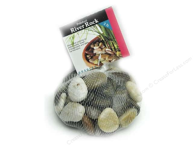 Panacea Decorative River Rock 2 lb. Assorted Colors