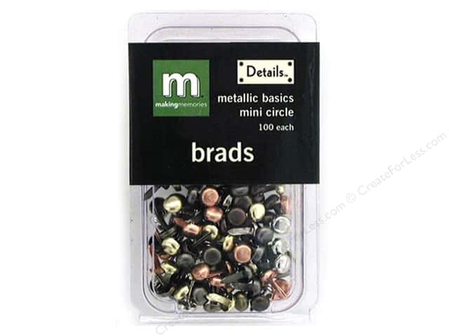 Making Memories Brads Mini Circle Metallic 100pc