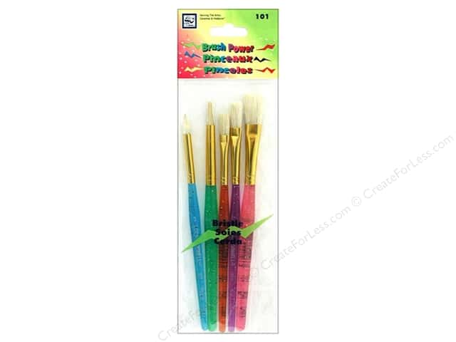 Loew Cornell Brush Set Power Bristle 5pc