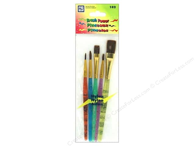 Loew Cornell Brush Set Power Nylon 5pc