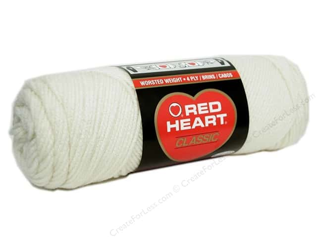 Red Heart Classic Yarn 4ply Off White