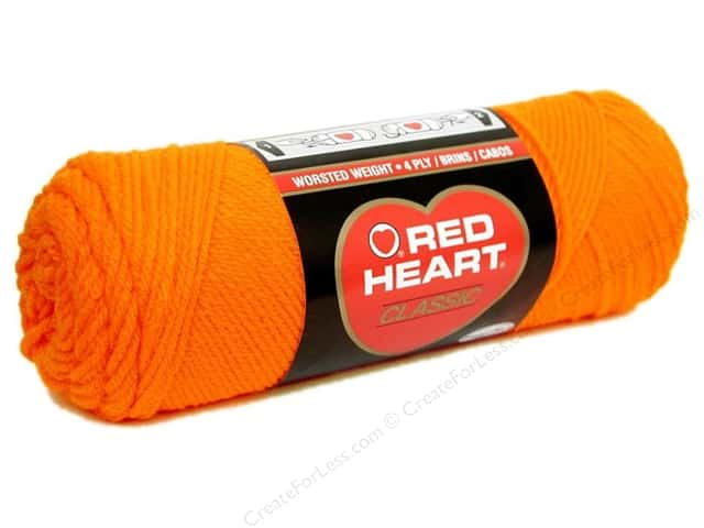 Red Heart Classic Yarn #249 Orange 190 yd.