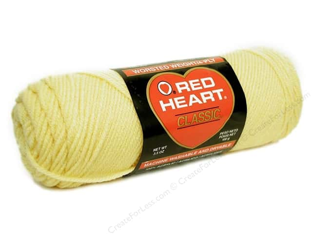 Red Heart Classic Yarn #261 Maize 190 yd.