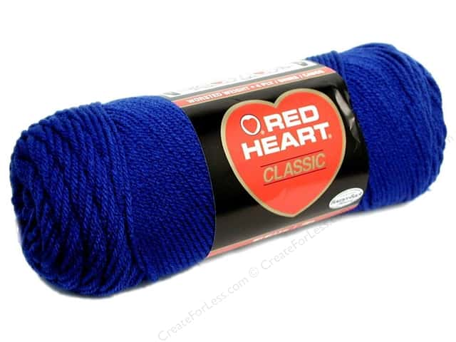 Red Heart Classic Yarn #849 Olympic Blue 190 yd.