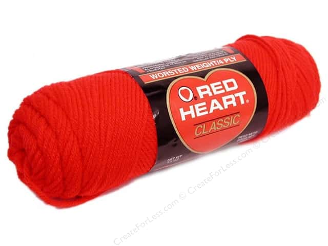 Red Heart Classic Yarn #902 Jockey Red 190 yd.
