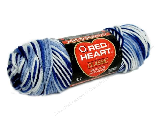 Red Heart Classic Yarn 4ply Blues