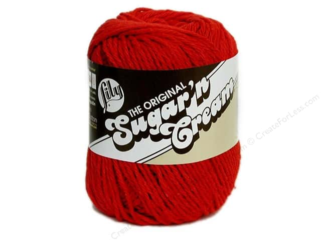 Lily Sugar 'n Cream Yarn  2.5 oz. #95 Red