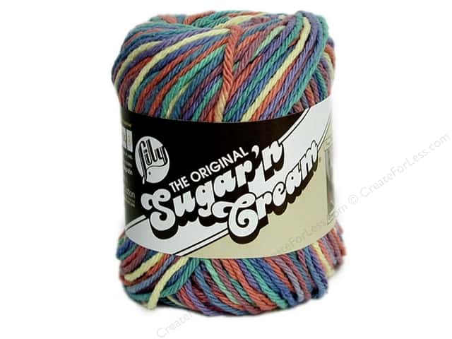 Lily Sugar 'n Cream Yarn  2 oz. #200 Rainbow Bright