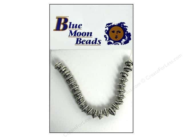 Blue Moon Beads Metal Roundel Small Silver 24pc