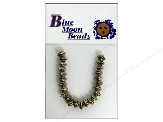 Blue Moon Beads Metal Roundel Small Gold 24pc
