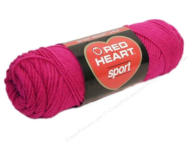 Red Heart Sport Yarn #922 Hot Pink 2.5 oz.