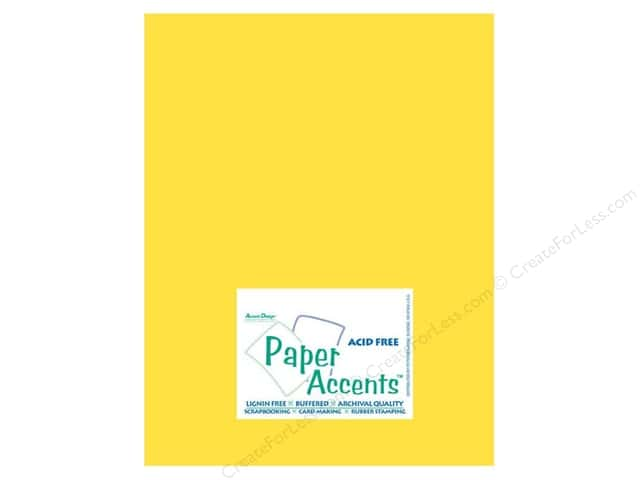 Cardstock 8 1/2 x 11 in. #10040 Stash Builder Lemon by Paper Accents (25 sheets)