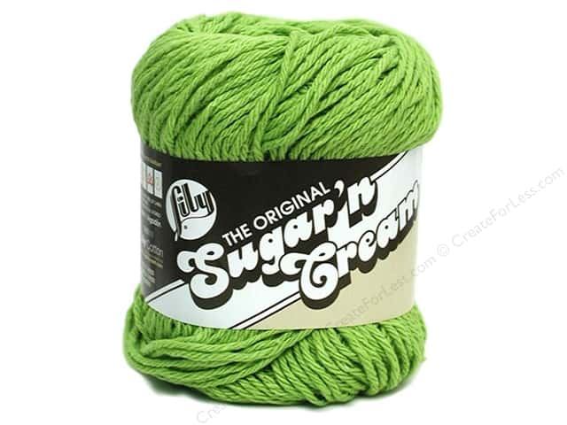 Lily Sugar 'n Cream Yarn  2.5 oz. #1712 Hot Green