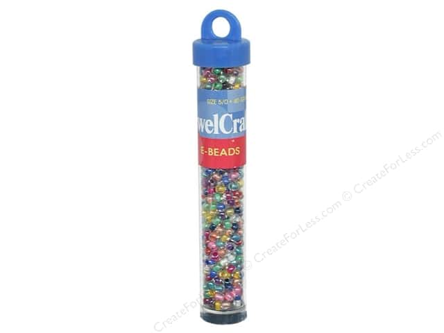 JewelCraft Glass E-Bead 5/0 40gm Color Line Multi