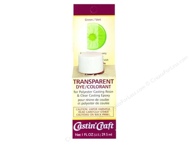 Castin'Craft Transparent Dye Carded Green 1 oz