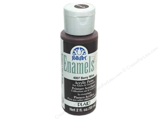 Plaid FolkArt Enamels Paint 2 oz. #4007 Berry Wine