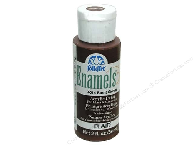 Plaid FolkArt Enamels Paint 2 oz Burnt Sienna