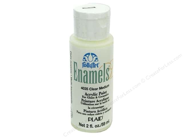 Plaid FolkArt Enamels Paint 2 oz Clear Mediumoz