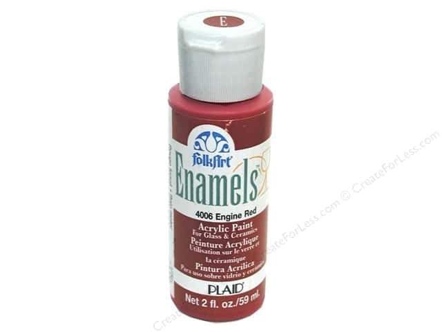 Plaid FolkArt Enamels Paint 2 oz Engine Red