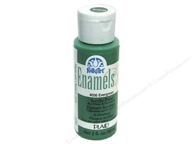 Plaid FolkArt Enamels Paint 2 oz Evergreen